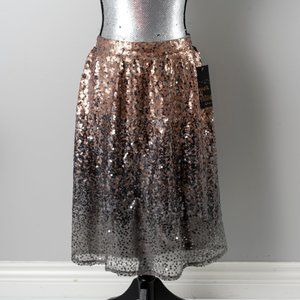 NWT Sequined ombre skirt - sz 8